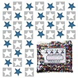 Confetti Star 1/4'' Blue Sky, White Combo - Half Pound Bag (8 oz) FREE SHIPPING --- (8523/8519)
