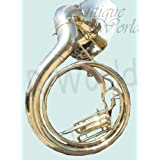 "Antiques World Bright Vibrant Sound With Big Sousaphone 24"" Made Of Brass Gold Color AWUSAMI 0136"