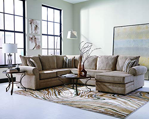 Coaster Home Furnishings 501149 Living Room Sectional Sofa, Cream ()