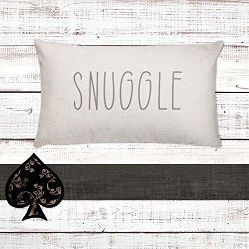 Snuggle Throw Pillow | Rae Dunn Inspired | Farmhouse Pillow | Rustic Chic | Home Decor | Housewarming Gift | Cottage Decor | Farmhouse Decor