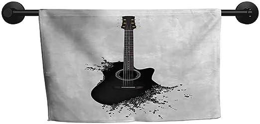 SONGDAYONE - Toalla de Guitarra Moderna con Texto en inglés Lets ...