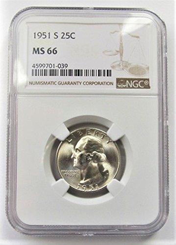 1951 S Washington 90% Silver Quarter MS66 NGC