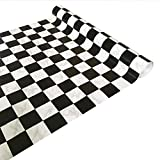 Decorative Contact Paper Black White Checkered Self Adhesive Shelf Liner Paper Peel and Stick Wallpaper for Kitchen Cabinets Drawers Shelves Countertops Windows Walls Crafts 17.7'' x 393''