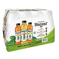 HONEST Tea, Brewed Organic Tea Variety Pack, 16.9 fl oz (Pack of 12)