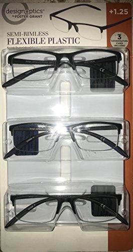 Design Optics Foster Grant Semi-Rimless Flexible Plstic ()