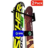 StoreYourBoard Ski Wall Storage Rack | Steel Home and Garage Skis Mount | Ski Couple