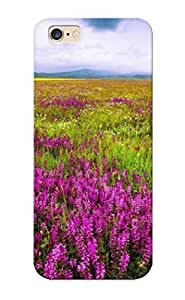 Hot Design Premium ZOetAAQ189pkoAj PC Case Cover For SamSung Galaxy S6 Protection Case (purple Flowers On The Field)