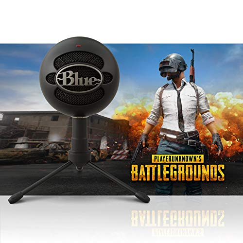 Blue Snowball Black iCE + PlayerUnkown's Battleground Streamer - Microphone Snowball Bundle Usb