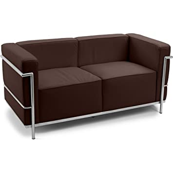 Design Sofa LC3 (Zweisitzer) - Charles Le Corbusier - Kunstleder ...