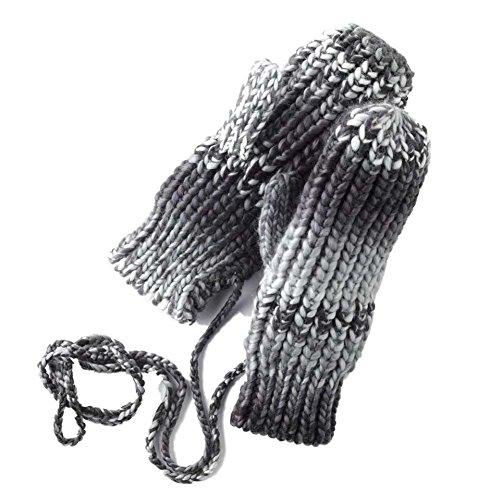 Mudd Soft Gray Knit Mittens...