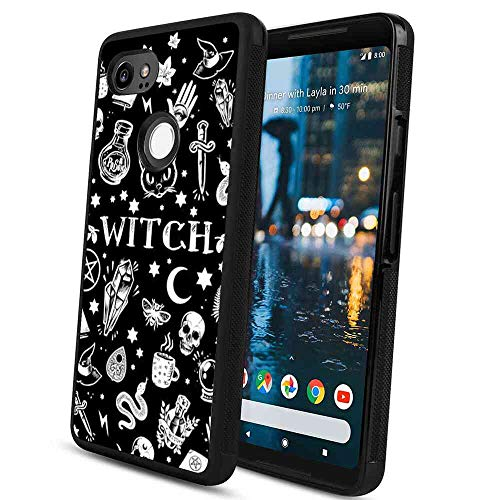 Witch Pattern Case Fits for Google Pixel 2 XL (2017) (6-Inch) ()