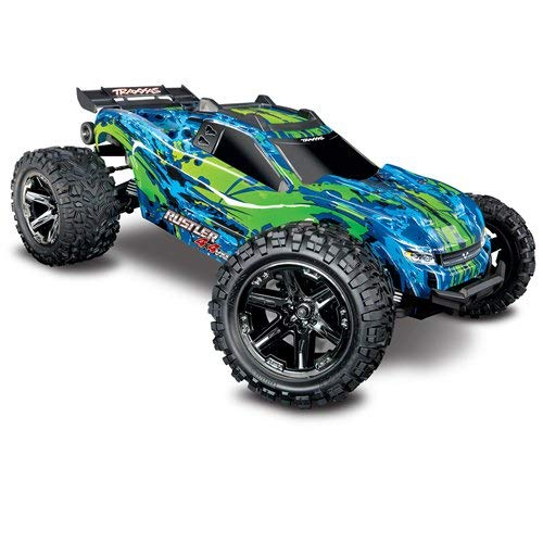 - Traxxas Rustler 4X4 VXL: 1/10 Scale Stadium Truck with TQi Link Enabled 2.4GHz Radio System & Traxxas Stability Management (TSM)
