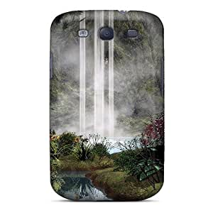High Quality QYP11130FRje 3d Waterfall Tpu Cases For Galaxy S3