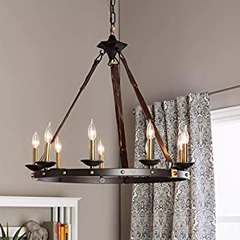 Amazon.com: Rustic Chandelier Lighting Great For High And Low ...