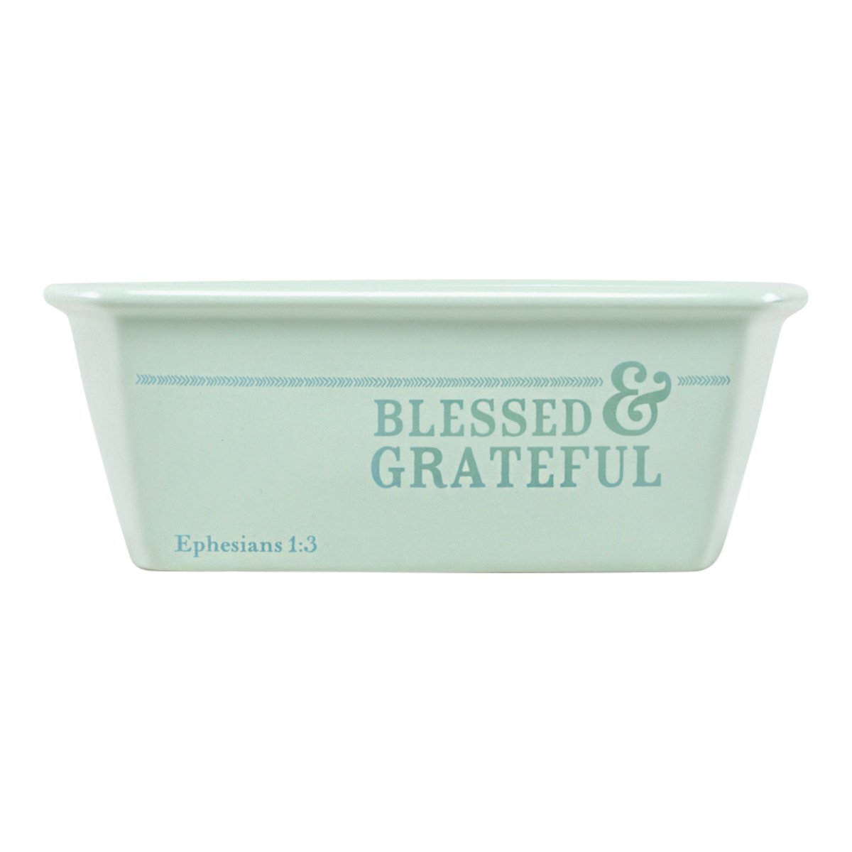 Mini Loaf Pan - Blessed and Grateful - Blue