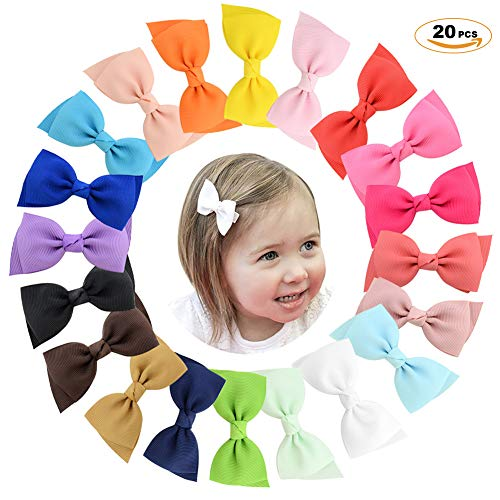 ZTWEDEN 20 Pcs Hair Bows Clip Ribbons Hair Accessories for Girls Beauty Barbies Toddlers Kids Children Adults Gifts ()