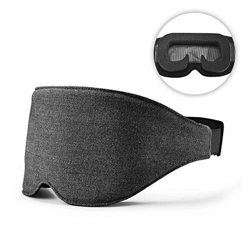 REEDCALE Comfortable Sleep Mask, Adjustable Eye Mask & No Pressure Eye Cover for Sleeping with 100% Blackout (black)