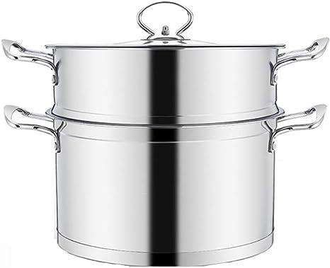Double Kettle Stainless Steel Soup Warehouse Pots Kitchen Cookware Cooking Pot Steamer Dumplings Stew Pot Stoves Steam Stove Layer Amazon De Kuche Haushalt