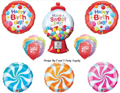 SWEET CANDY CRUSH 16th Happy Birthday PARTY Balloons Decorations Supplies Candyland Saga (Candyland Themed Balloons)