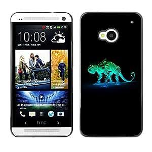 Be Good Phone Accessory // Dura Cáscara cubierta Protectora Caso Carcasa Funda de Protección para HTC One M7 // Robot Mech Chameleon