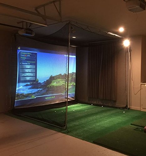 optishot Complete Golf Simulator, Projector+Laptop+Net,Screen,Mat - All ()