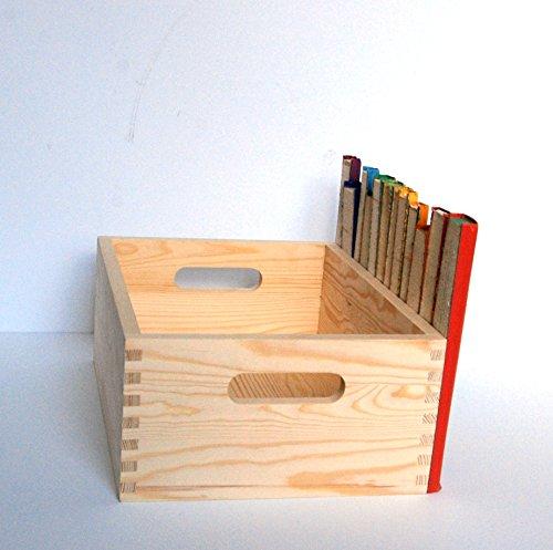 ... Handmade Secret Storage Caddy Vintage Book Collection Wood Storage Crate Decorative Storage Box ... & Handmade Secret Storage Caddy Vintage Book Collection Wood Storage ...