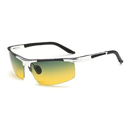 Día y Noche Doble Uso Gafas de Sol polarizadas Gafas de Sol Protección UV Deportes Gafas