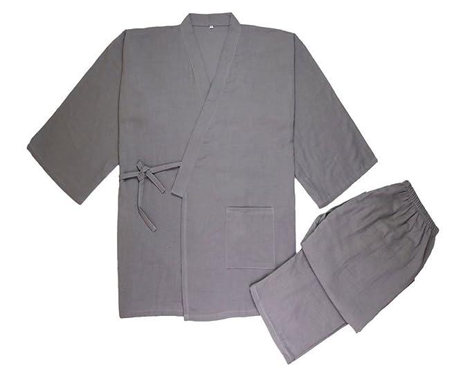 Amazon.com: soojun para hombre Kimono Jinbei camisa y ...
