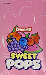 Charms Sweet Pops Assorted Flavors - 100 Lollipops/Box