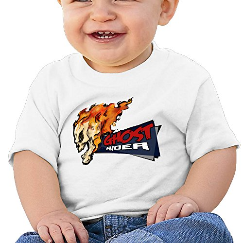 Price comparison product image Boss-Seller Ghost Rider Short Sleeve Shirt For 6-24 Months Infant Size 18 Months White