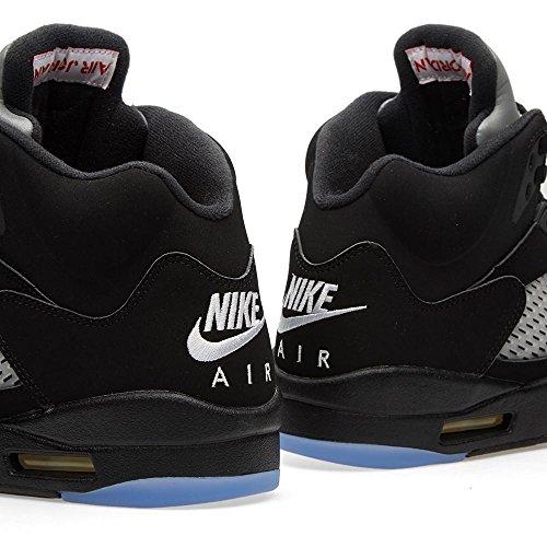 Nike Air Jordan 5 Retro Og Hombres Hi Top Zapatillas De Baloncesto 845035 Zapatillas Zapatos Hueso