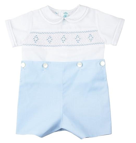 d851819cebc Feltman Brothers Blue White Smocked Bobbie Suit Boys Christening Outfit (2T)
