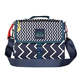 Higge Large Portable Baby Diaper Changing Pad Station, Diaper Clutch for Moms and Dads - Great for Toddlers, Babies and Newborns - Simple Scandinavian Design with Padded Mat, and Storage.