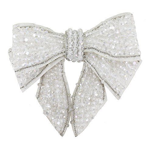 Hanging Piece Decorated 1 Patches Loop Gray For Brooches Design Shoes Clothes White Necklace Beaded Headband F7tqpqzPw
