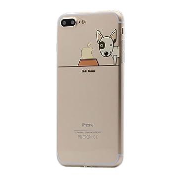 Keyihan iPhone 8 Plus / 7 Plus Funda Carcasa Perro Lindo patrón Suave TPU Silicona Transparente Ultra Delgada y Ligéra Parachoques para Apple iPhone 8 ...