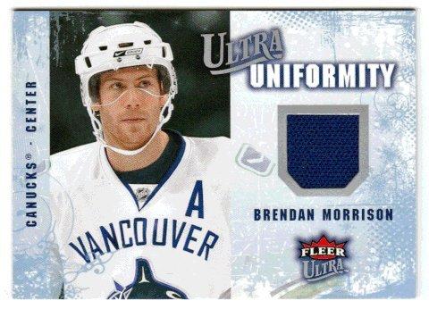Morrison Jersey - Brendan Morrison (Hockey Card) 2008-09 Fleer Ultra Uniformity # UA-BM Jersey