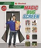 Magic Bug Screen  Magnetic Screen 39x83 BlackLace Screen Door  Mesh Curtain