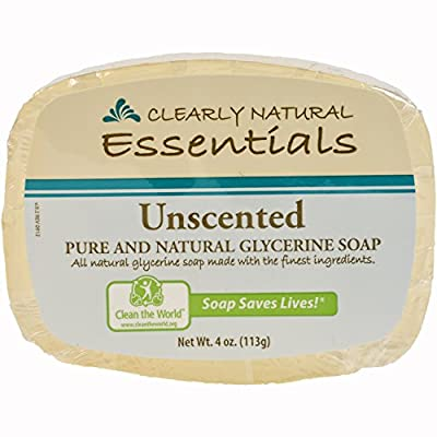 Clearly Natural Essentials Glycerin Bar Soap, Pack of 12, 4-Ounces Each by Clearly Natural