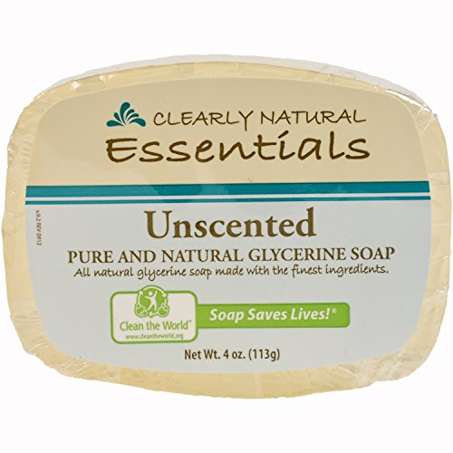 Clearly Natural Glycerine - Clearly Natural Essentials Glycerin Bar Soap, Pack of 12, 4-Ounces Each