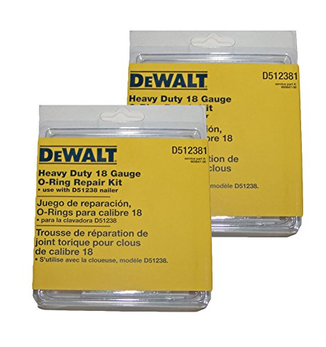 DEWALT (2 Pack) D512381 18-Gauge Brad Nailer O-Ring Service Kit # 605647-00-2pk