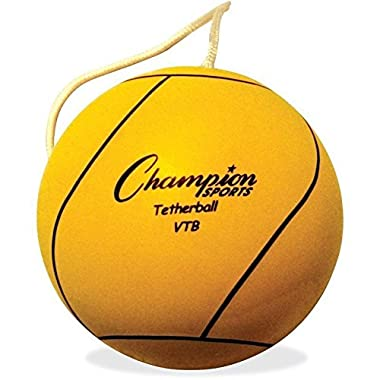 Champion Sports Optic Yellow Tetherball Ball - Playground -tether Ball For Kids