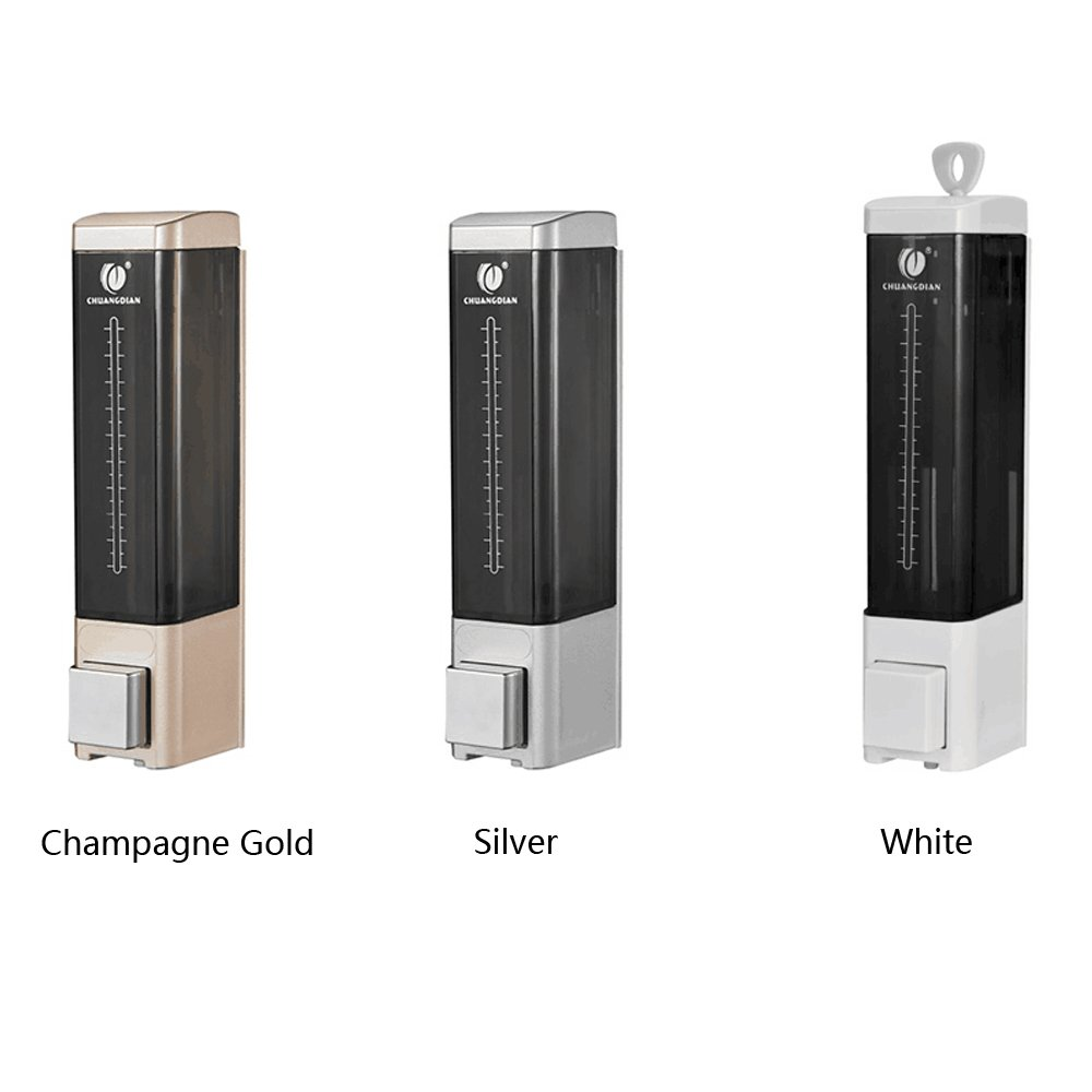 HEHEN CHUANGDIAN Wall Mounted Manual Soap Dispenser Single Bottle//Champagne Gold 180ml