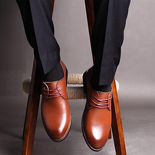 Scarpe Da Da Uomo Casual Da Lavoro Lavoro Casual Antiscivolo Business Uomo Da Brown Scarpe Formali Uniformi qIFFxw