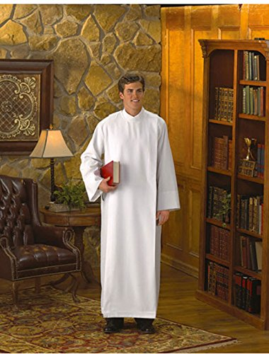 - Front Wrap Alb This front wrap alb has a perfectly designed collar that shows well under chasubles. Size: Extra Large