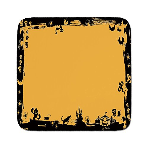 Cozy Seat Protector Pads Cushion Area Rug,Halloween,Black Framework