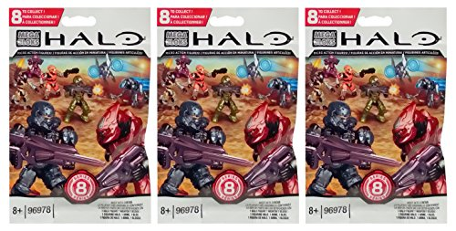 (Halo Mega Bloks Series 8 (3 Packs) Mini Figure Blind Bags (Total of 3 Packs))