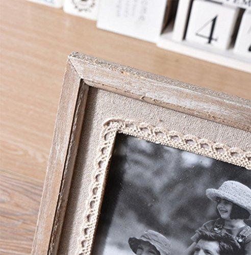 liuhoue Madera Manualidades portaretrato, Clásico Antiguo portaretrato Foto Decoración hogar Marco-A 12.7x17.7cm(5x7inch): Amazon.es: Hogar