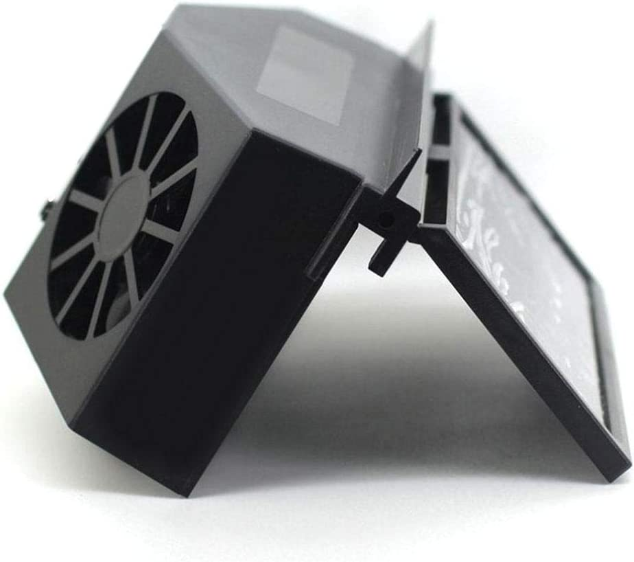 juman Solarbetriebene automatische K/ühlung Doppel Auspuff Fahrzeugventilator Solar L/üftungsventilator Klimaanlage Fan f/ür Camping Caravan Wohnmobil Zelt Auto Gew/ächshaus Schuppen