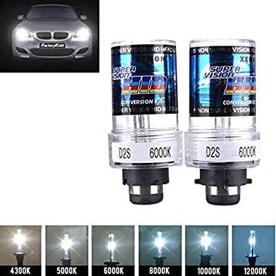 Ecosin Fashion 2X 35W D2S/D2C Xenon Car Replacement HID White Headlight Light Lamp Bulbs