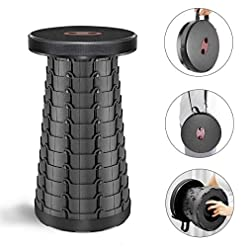 U`King Portable Telescoping Stool Folding Camping Stool Seat for Fishing Hiking Traveling Outdoor Activities Max Load 330lbs